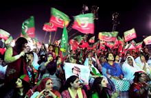 Imran rally outside Pakistan capital Islamabad