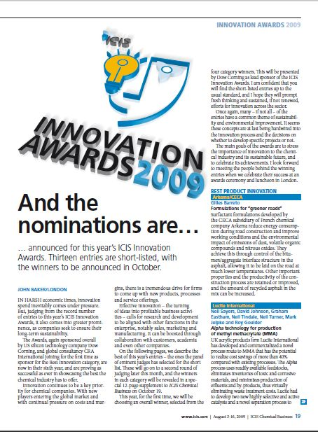 Innovation Awards shortlist