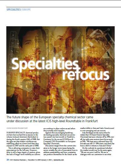 Specialty chemicals roundtable