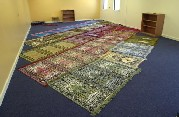 Acrylic fibres are used in carpets