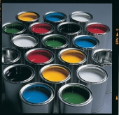 Titanium dioxide is used in the manufacture of paint (source: Akzo)