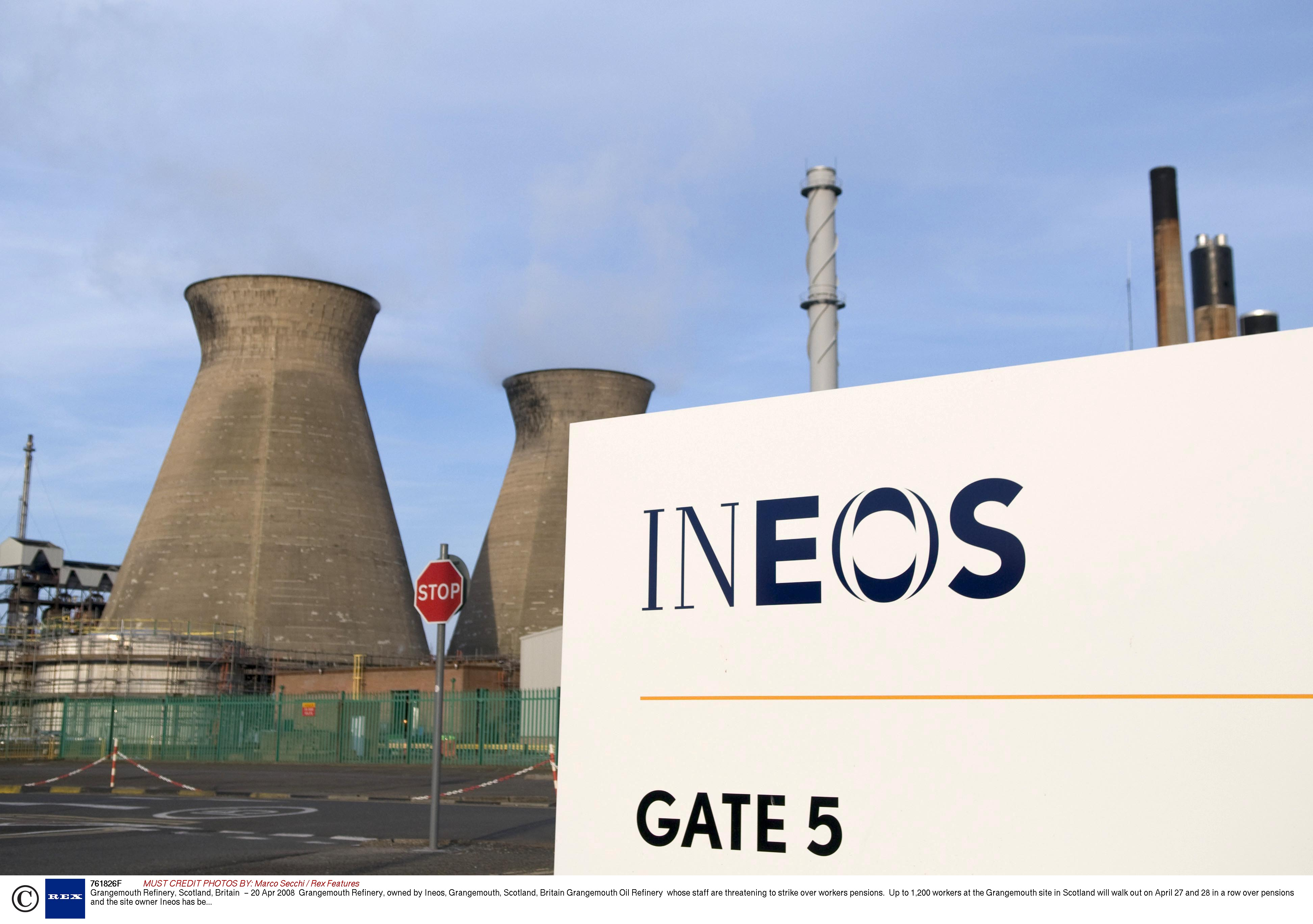 Grangemouth Refinery, Scotland, owned by Ineos. (Source: Marco Secchi/Rex Features)
