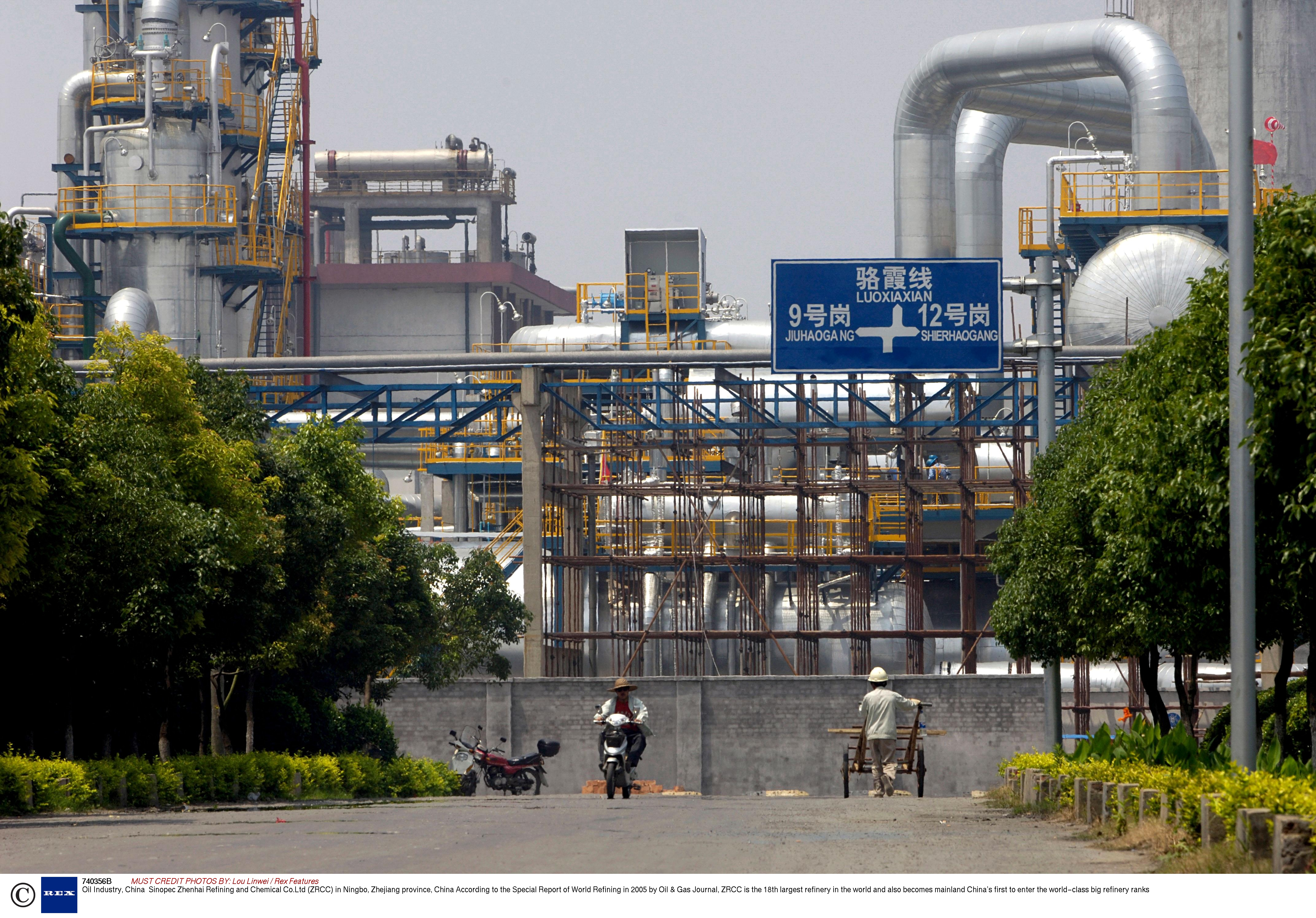 Sinopec Zhenhai Refining and Chemical Co.Ltd (ZRCC) in Ningbo, Zhejiang province, China. (Source: Lou Linwei/Rex Features)