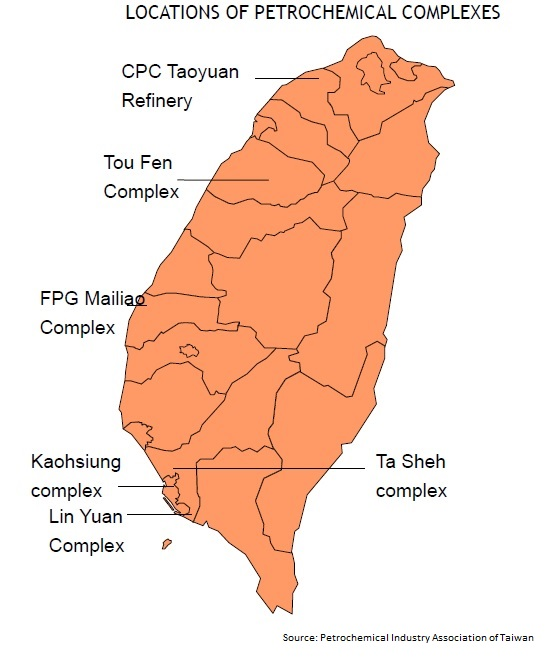 Petchem complexes in Taiwan