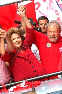 Photographer Xinhua News Agency/REX/Shutterstock Election Campaign Rally in Sao Paulo, Brazil - 03 Oct 2014 Dilma Rousseff and Luiz Inacio Lula da Silva 3 Oct 2014