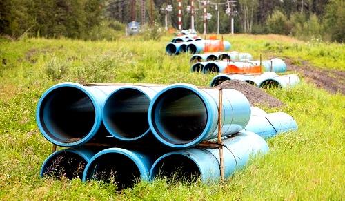 Pipeline construction in Alberta