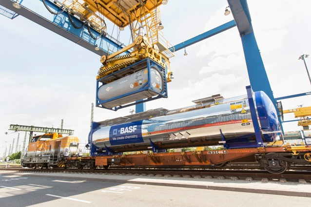 BASF rail tank containers