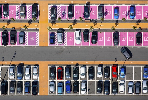 Auto park in Germany