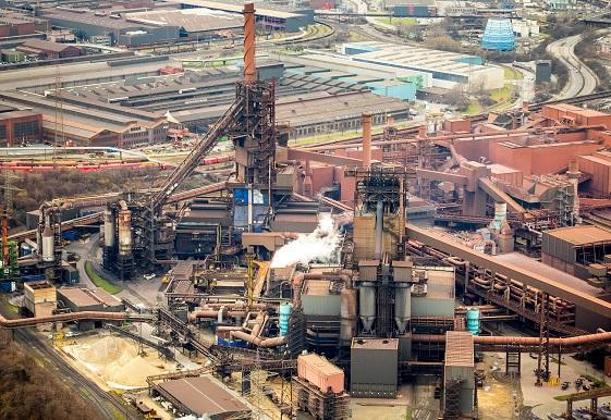 ThyssenKrupp steel works in Duisburg