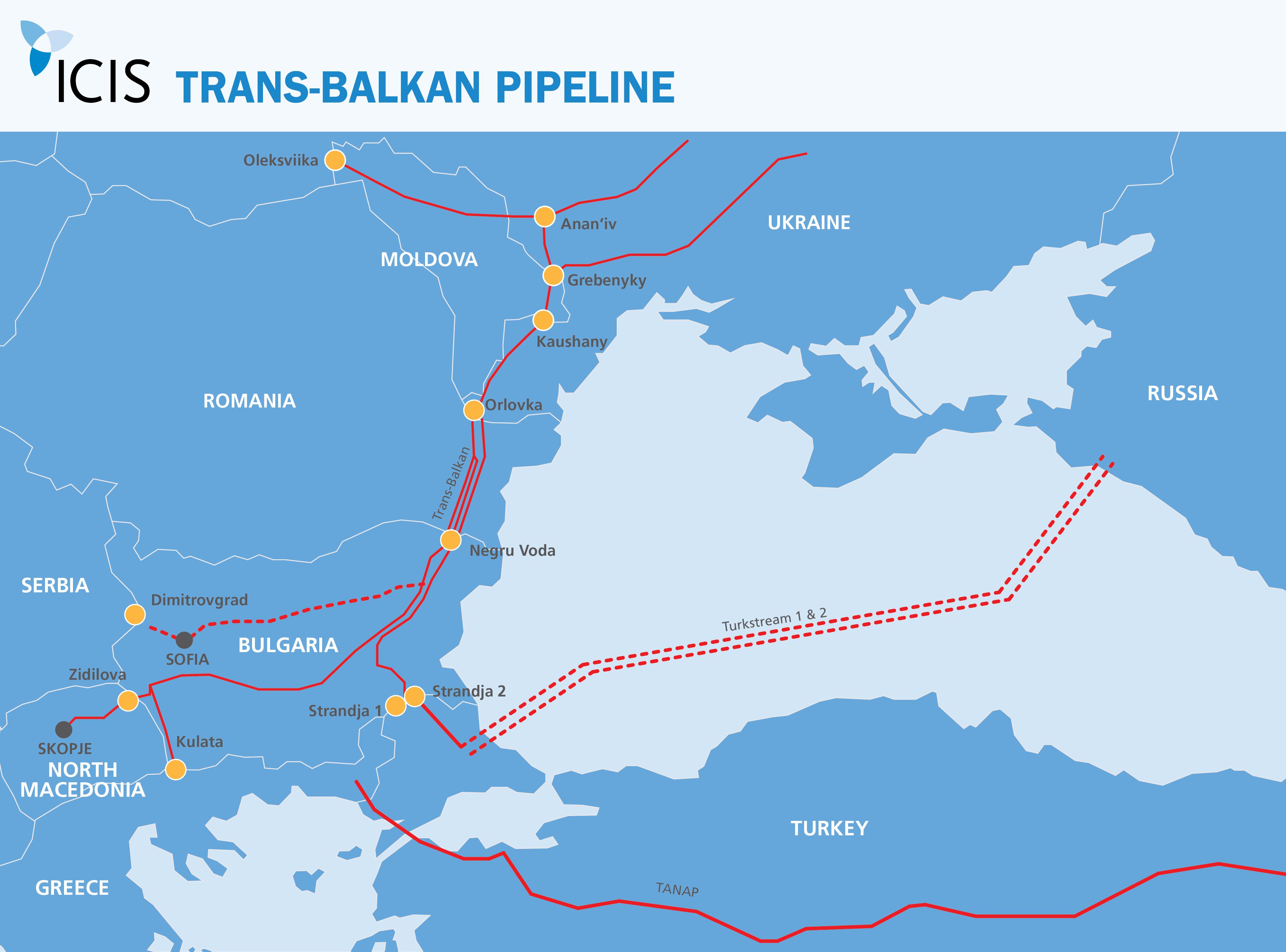 Ukraine Turkey Emerging As Eastern European Gas Transit Options Icis