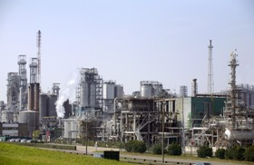 Total petrochemical plant in Antwerp, Belgium