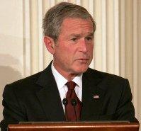 Bush assures public of federal focus on financial crisis