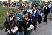 US voters stand in line for elections