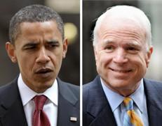 Obama and McCain near even