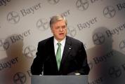 Bayer CEO Werner Wenning addresses the media