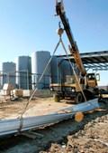 A biodiesel plant under construction