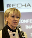 Margot Wallstrom at the ECHA