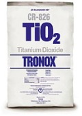 A bag of Tronox TiO2