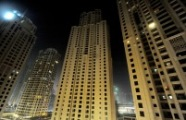 Empty apartment blocks in Dubai