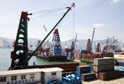Port terminal for commercial shipping