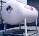 A propane tank