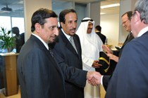(L-R) CEO Mohamed Al Mady with His Highness Prince Saud bin Thunayan Al-Saud at the opening of new SABIC office