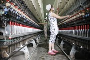A textile unit in China. Nylon goes into making of textiles.