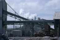 A phosphate processing plant