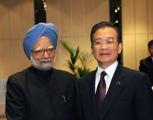 China Premier Wen Jiabao and India Prime Minister Manmohan Singh