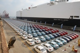 Chevrolet Sail cars in Shandong, China. The country