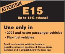 E15 label