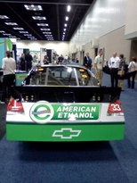 A NASCAR ethanol car
