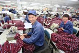 China textile factory in Shandong province
