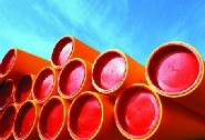 HDPE can be extruded into pipes (Source: Borealis)