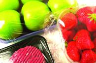 Polyethylene is used in the packaging of fruits. (Source: Plastics Europe).