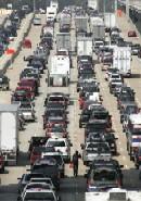 A US traffic jam