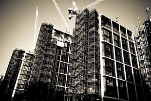 Construction site, Rex Features