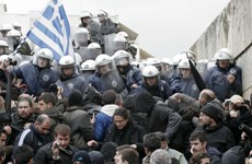 Greeks protest against austerity measures