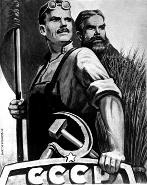Russian propaganda poster, Rex Features