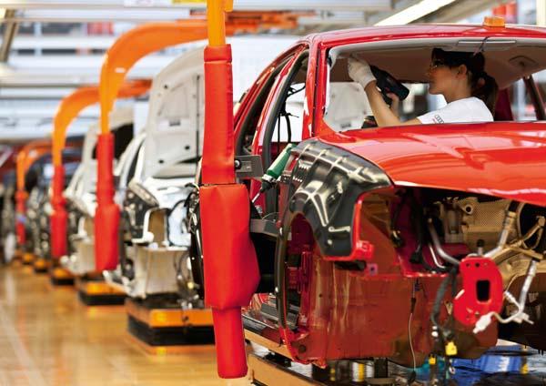 Audi production line, Audi