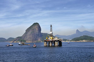 Brazil offshore oil rig, Rex Features