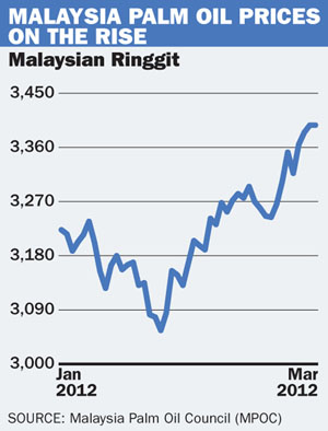 Malaysia palm oil prices