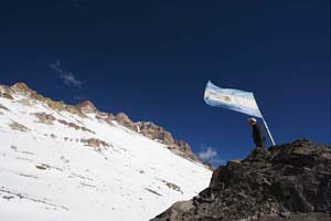 Argentinian flag, Rex Features