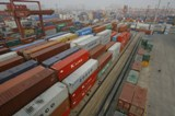 China port in Wuhan, Hubei province
