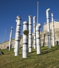 A PVC pipe sculpture