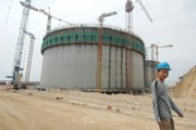 Under construction LNG tank in China