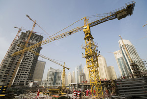 Dubai construction Rex Features