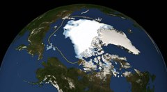 Arctic sea ice Augsut 2012