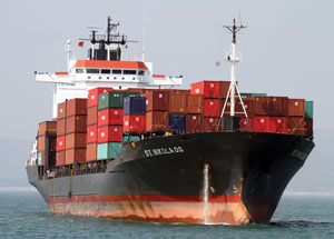 Container ship Rex Features
