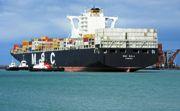 A large cargo ship